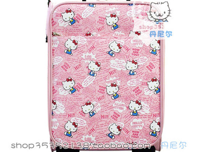 印满Hello Kitty的旅行箱
